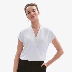 MM Lafleur Antonia light gray blouse